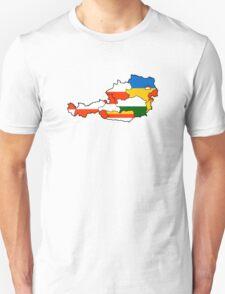 Austria States Flag Map Unisex T-Shirt