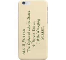 Harry Potter Hogwarts Letter iPhone Case/Skin