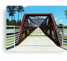 Pedestrian Bridge Canvas Print
