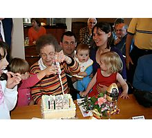 90th birthday celebration Photographic Print