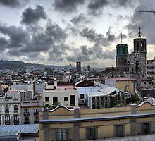 Barcelona Skyline by Paul Thompson Photography
