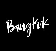 Bangkok Brush Lettering by squiddyshop