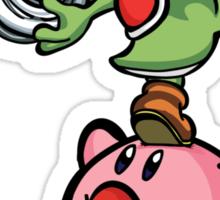 Yoshi and Kirby Sticker