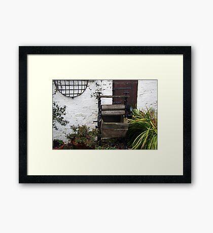 Old Mangle Framed Print