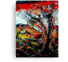 sacred tree...mythical boy's flash appearance Canvas Print