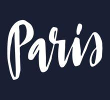 Paris Brush Lettering One Piece - Short Sleeve