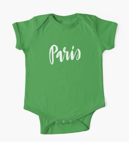 Paris Brush Lettering One Piece - Short Sleeve