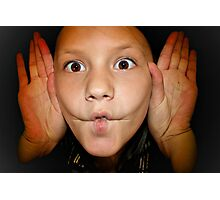 My Child Funny Faces  Photographic Print