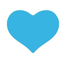 Blue Heart Google Hangouts / Android Emoji by emoji