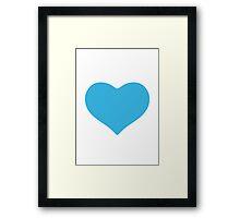 Blue Heart Google Hangouts / Android Emoji Framed Print