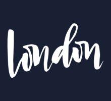 London Brush Lettering One Piece - Short Sleeve