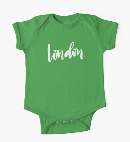 London Brush Lettering One Piece - Short Sleeve