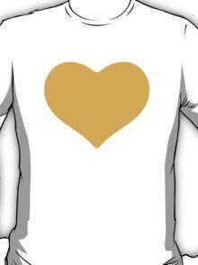 Yellow Heart Google Hangouts / Android Emoji T-Shirt
