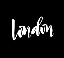London Brush Lettering by squiddyshop