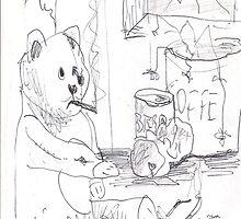 SAD TEDDY(C2007) by Paul Romanowski