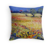 Primary colours Throw Pillow
