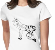 cheval tigre Womens Fitted T-Shirt