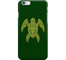 Intricate Green and Yellow Sea Turtle iPhone Case/Skin