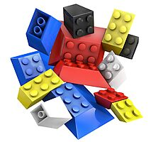 Picasso Toy Bricks Photographic Print