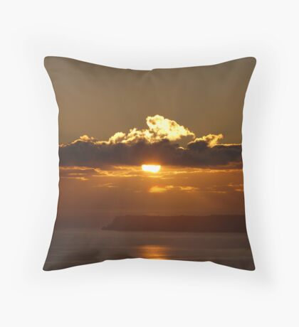 Berryhead in the morning p101scapes Throw Pillow