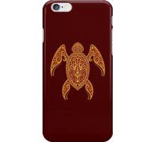 Intricate Golden Red Sea Turtle iPhone Case/Skin
