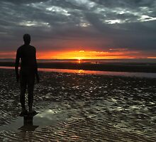 'Another Place', Crosby Beach by Steve  Liptrot