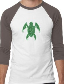 Intricate Green Sea Turtle Men's Baseball ¾ T-Shirt