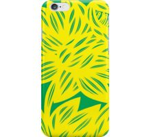 Goldwire Flowers Yellow Green iPhone Case/Skin