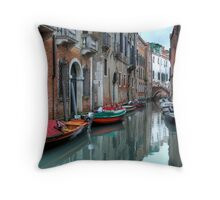 Venitian Canals Throw Pillow