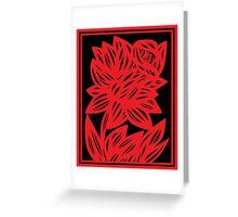 Komlos Daffodil Flowers Red Black Greeting Card
