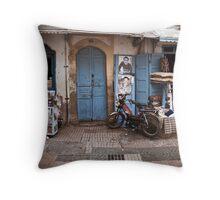 Moroccan Shopfront Throw Pillow