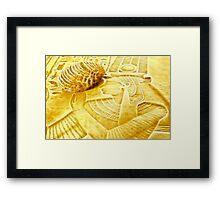 design in style ' travel to Egypt ' Framed Print