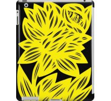Gertel Daffodil Flowers Yellow Black iPad Case/Skin