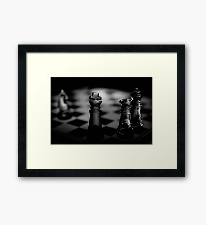 Chess 3: Dame's last word Framed Print