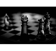 Chess 3: Dame's last word Photographic Print