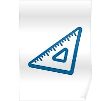Triangular Ruler Google Hangouts / Android Emoji Poster
