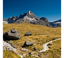 mountains on routeburn track Photographic Print