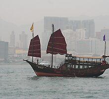 Chinese junk by John  Lambert