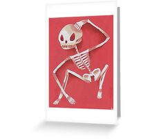 skeleleleton Greeting Card