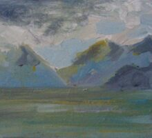 STORM OVER THEM MOUNTAINS(C2013) by Paul Romanowski