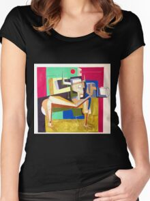 """""""The Photographer""""  Women's Fitted Scoop T-Shirt"""