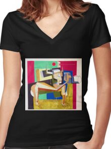 """""""The Photographer""""  Women's Fitted V-Neck T-Shirt"""