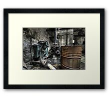 Rusted and rotting Framed Print