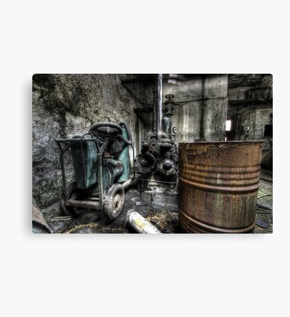 Rusted and rotting Canvas Print