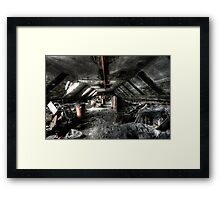 Hidden in the attic Framed Print