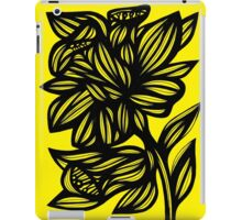 Shinney Daffodil Flowers Yellow Black iPad Case/Skin