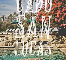 Cabo San Lucas Typography Print by Simone Anderson