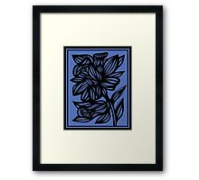 Calder Daffodil Flowers Blue Black Framed Print