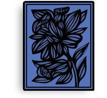 Calder Daffodil Flowers Blue Black Canvas Print