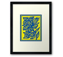Pawelczyk Daffodil Flowers Yellow Blue Framed Print